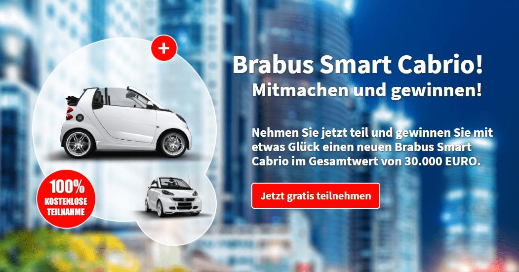 Auto Gewinnspiel: Brabus Smart Cabrio Gewinnspiel Wert von