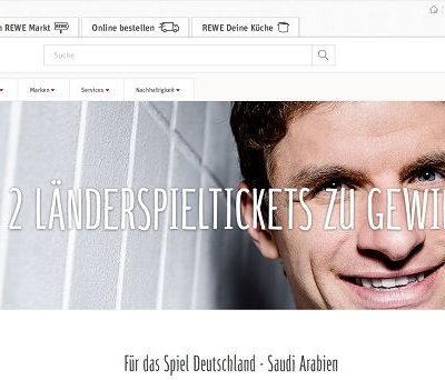 REWE Gewinnspiel Deutschland - Saudi Arabien Länderspieltickets gewinnen