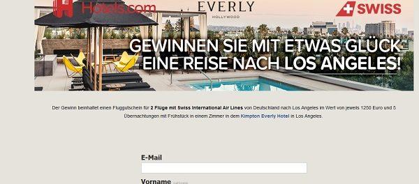 Reise Gewinnspiel Hotels.com Los Angeles Urlaub