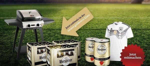 Rewe Warsteiner Gewinnspiel WM Party Pakete