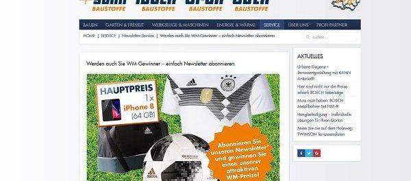 Schade & Sohn WM Gewinnspiel Appel iPhone 8 u. WM Trikot 2018