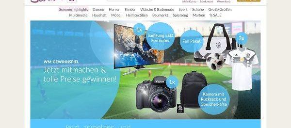 Schwab Versand WM Gewinnspiel Samsung LED Fernseher und Canon Kamera