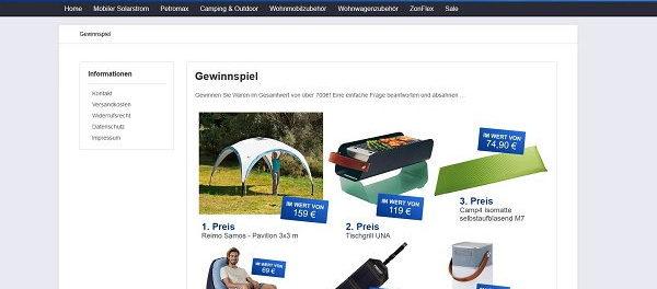 Shoppz Gewinnspiel Camping und Outdoor Zubehör gewinnen
