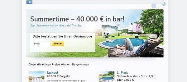 Web.de Summertime Gewinnspiel Garten-Pool und Bargeld