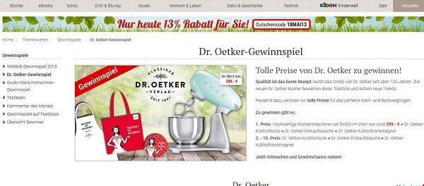 Weltbild Gewinnspiel SMEG Küchenmaschine Dr. Oetker