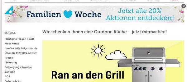 Yomonda Gewinnspiel Outdoor-Küche BergHOFF Gasgrill