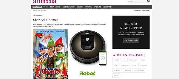 amicella Gewinnspiel iRobot Staubsauger Roboter