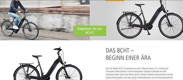 e.bikemanufakur Gewinnspiel monatlich E-Bike gewinnen