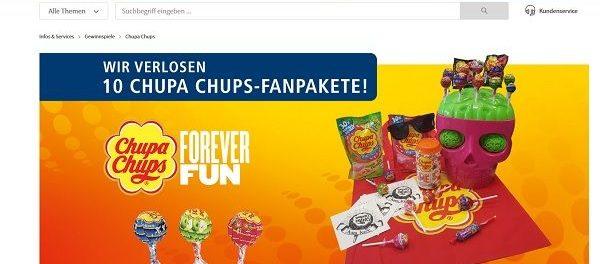 real Gewinnspiel Chupa Chups Pakete