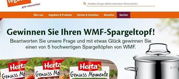 tegut und Herta Gewinnspiel WMF Spargeltöpfe