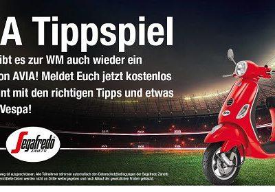AVIA WM Tippspiel Gewinnspiel Vespa Motorroller