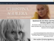 Amazon Gewinnspiel Christina Aguilera New York Konzert Reise