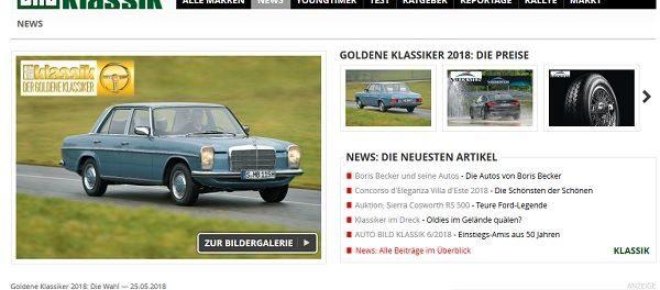 Auto Bild Klassik Auto Gewinnspiel Mercedes Oldtimer gewinnen