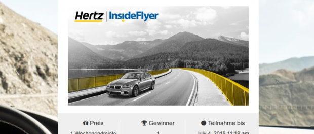 Auto-Gewinnspiel Hertz Mietwagen 1 Wochenende gewinnen