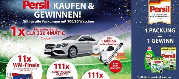 Auto Gewinnspiel Persil Nationalmannschaft Mercedes CLA 220 4 Matic