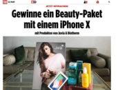 Bild.de Gewinnspiel Apple iPhone X und Beauty-Paket