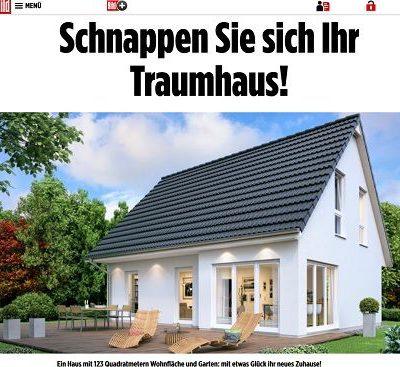 Bild.de Traumhaus Gewinnspiel Rückwärtsauktion 2018