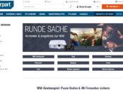 Cyberport WM Gewinnspiel 4K Fernseher gewinnen