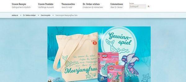Dr. Oetker Meerjungfrauen-Sets Gewinnspiel