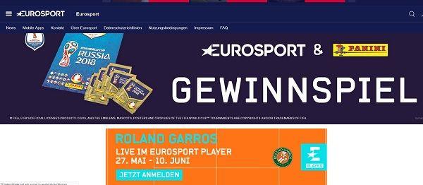 Eurosport WM Gewinnspiel Panini Sammelalben und Sammelbilder