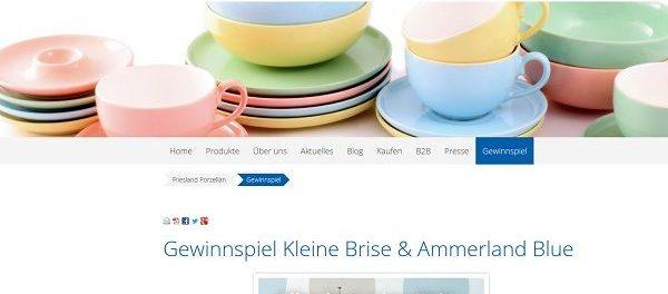 Friesland Porzellan Gewinnspiel kostenlos Apple iPad gewinnen