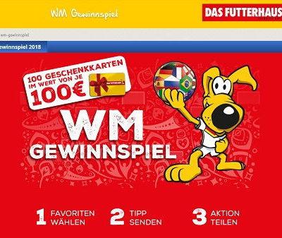 Futterhaus WM Tipp-Gewinnspiel 100 Geschenkkarten