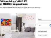 GQ Magazin Gewinnspiel Medion 55 Zoll UHD Fernseher