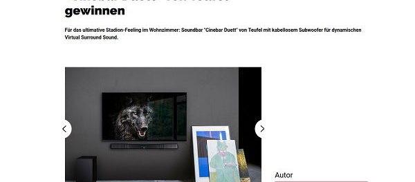 GQ Magazin Gewinnspiel Teufel Soundbar-Set