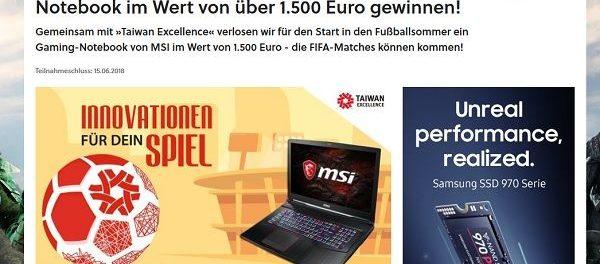 GameStar Gewinnspiel MSI Gaming-Notebook gewinnen
