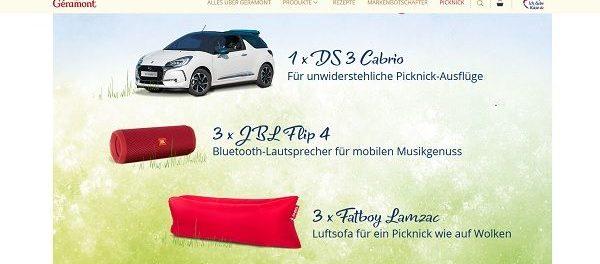 Geramont Auto Gewinnspiel DS3 Cabrio Picknick-Tombola 2018