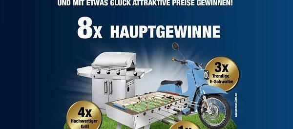 Hammerit Gewinnspiel E-Roller, Gasgrill und Kickertisch