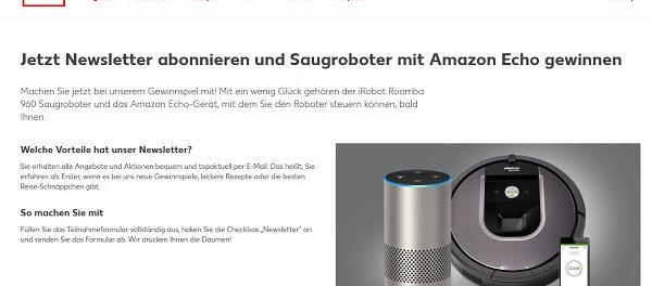 Kaufland Gewinnspiel Saugroboter und Amazon Echo