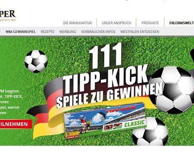 Klümper WM Gewinnspiel 111 Tipp-Kick Spiele