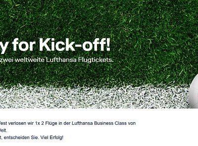 Lufhansa Gewinnspiel 2 Business Class Flüge freie Auswahl