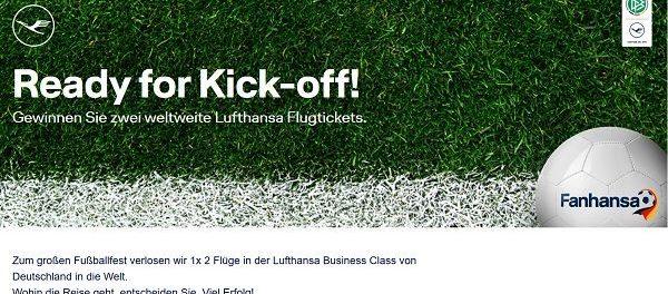 Lufthansa Gewinnspiel 2 Business Class Flüge freie Auswahl