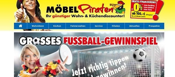 Möbel Piraten Gewinnspiel Fussball Weltmeisterschaft 2018