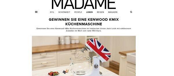 Madame Kenwood KMix Küchenmaschine Gewinnspiel