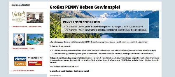 Penny Reisen Gewinnspiel 3 Kurzurlaube gewinnen