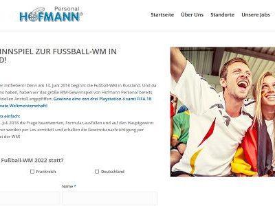 Playstation 4 Gewinnspiel Hofmann Personal