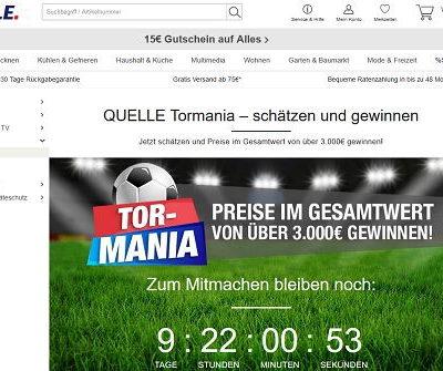 Quelle WM Gewinnspiel Tor-Mania 55 Zoll Samsung TV uvm.