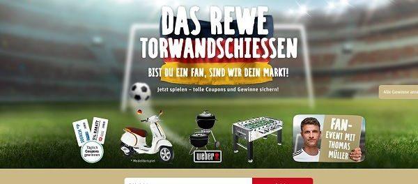 REWE Torwandschiessen WM Gewinnspiel Vespa und Weber Grill