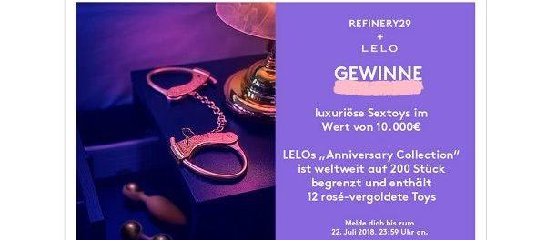 Refinery29 Gewinnspiel LELO Sextoys Wert 10.000 Euro