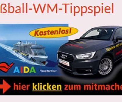 Reifen Göggel WM Tippspiel Audi A1, AIDA Kreuzfahrt und Sachpreise