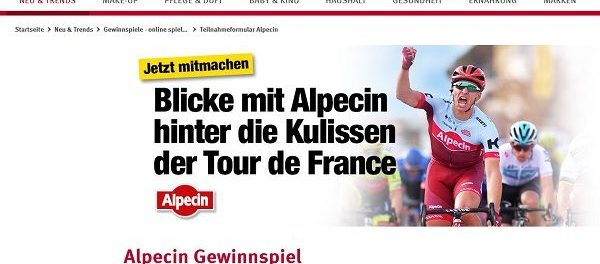 Rossmann und Alpecin Gewinnspiel Tour de France Reise