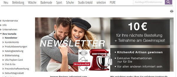 Ulla Popken Gewinnspiel KitchenAid Artisan Küchenmaschine