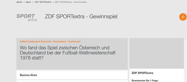 ZDF Sport Extra Auto Gewinnspiel Mercedes gewinnen