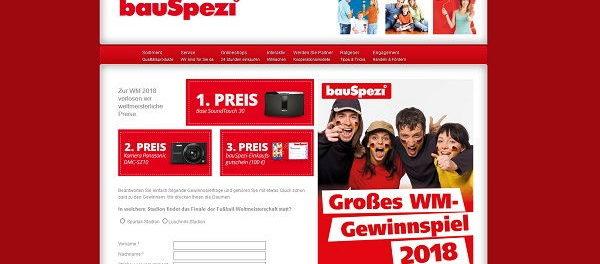 bauSpezi WM Gewinnspiel Bose Soundsystem und Gutschein