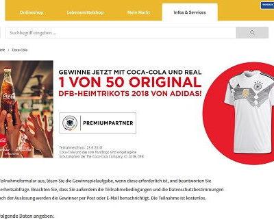 real Gewinnspiele Coca Cola verlost 50 DFB-Heimtrikots Adidas
