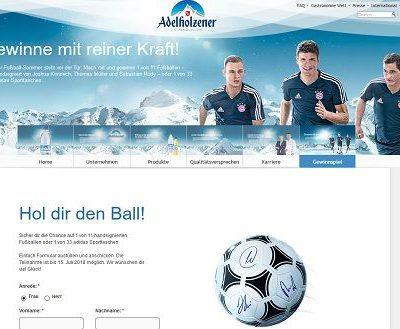 Adelholzener WM Gewinnspiel