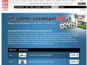 Auto Bild WM Sommer-Gewinnspiel 2018